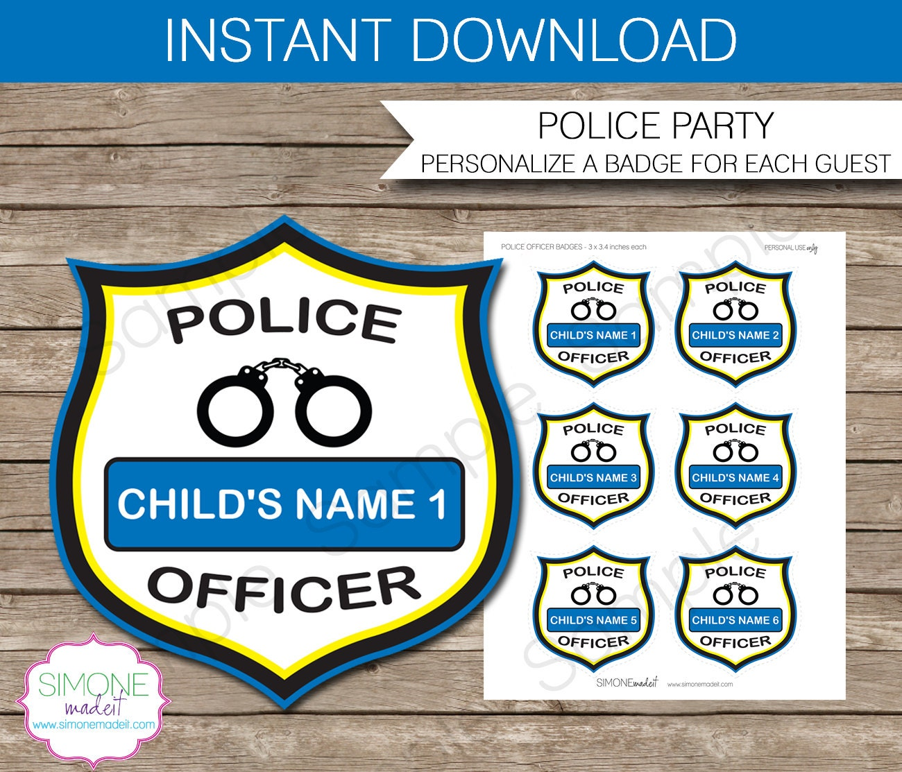It is a picture of Magic Printable Police Badges