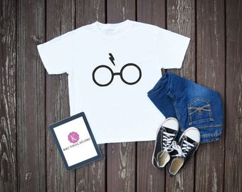 Harry Potter Inspired Glasses & Lightening Bolt T-Shirt