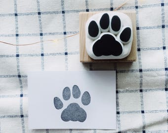 cat track stamp,Cat paw rubber stamp,cat paw stamp,paw print,stationery stamp for diy projects
