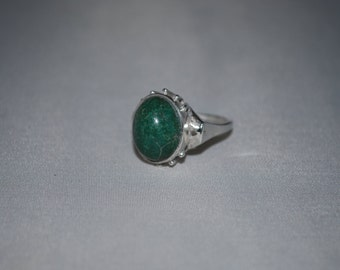 Sterling silver chrysocolla ring size 5.5