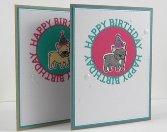 Frenchie Birthday Card, French Bulldog Birthday Card, Dog Birthday Card
