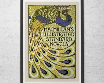 ART NOUVEAU PRINT - Stunning Gold and Blue Belle Epoque Wall Art High Quality Giclee Art Nouveau Poster