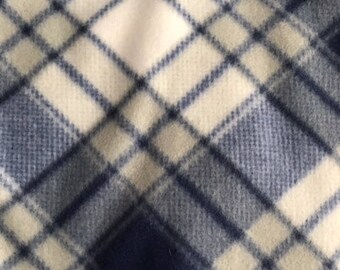 Navy Blue Plaid Snood for Great Danes/Giant Breed Dogs