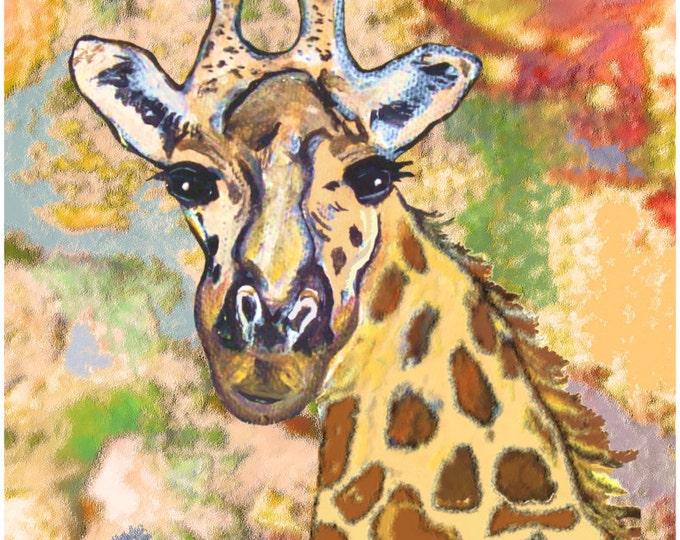 Giraffe Print Poster