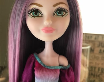 Ooak rerooted ever after high crystal winter