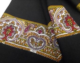 Bibas Style Art Nouveau Revival Wool Border Print Scarf