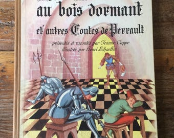 "French Children's 1947 Edition of ""Sleeping Beauty and Other Tales of Perrault"""