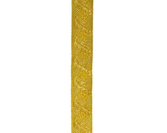 Lace pattern gold metal flower and leaf width 20 mm