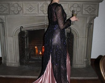 SALE    Elegant Turn of the Century beaded gown
