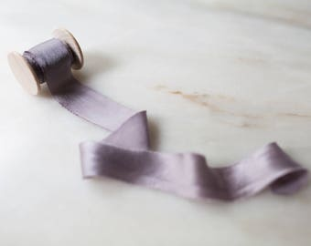 """Heather, soft mauve silk ribbon, 1"""" wide, handmade, hand dyed,  bridal bouquet, invitations, wedding favours, photography, styling"""