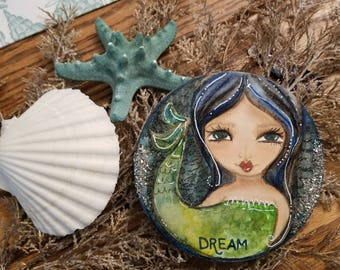DREAM. Mini MERMAID art. Original art by Tiffanie Seiler
