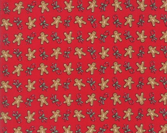 Sugar Plum Christmas Gingerbread Candy Red fabric by Bunny Hill Designs for Moda Fabric #2914-11