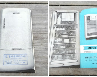 Vintage  1950/50s  French cut out paper  refrigerator advertisment