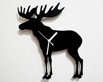 Moose Silhouette - Wall Clock