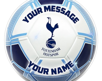 """FC TOTTENHAM Inspired  Personalised Party Cake Topper Edible print on icing 7.5"""""""