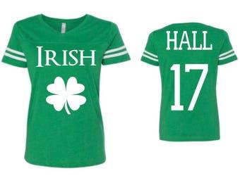 Irish shirt, st. Patricks day shirt, womens st Patricks day shirt, group shirts, friend shirts, womens irish shirt, personalized, shamrock