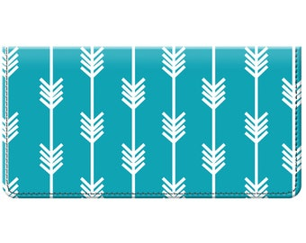 Boho Arrow Design Trendy Checkbook Cover for Teens and Women Available in Many Color Options