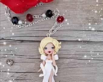 Ooak Marilyn Monroe Doll Necklace