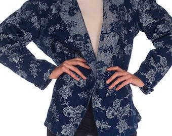 Denim And Lurex Brocade Jacket Size: L