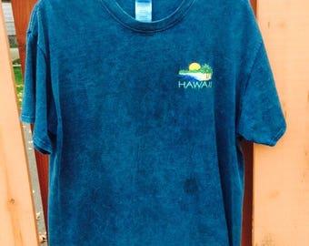 Hawaii Blue Tie Dye Tee Large