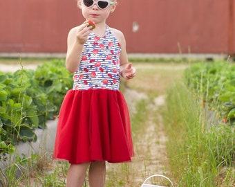 Fourth of July little girls - Girls dresses - Toddler Dresses - Patriotic Dress for Girls - Dress for Toddler - Summer Dress for Girls