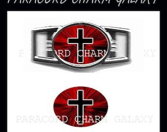 CROSS Paracord Bracelet Charm Shoelace Charm 1