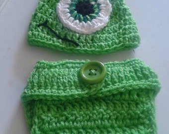 Crochet Mike Monsters inc costume baby