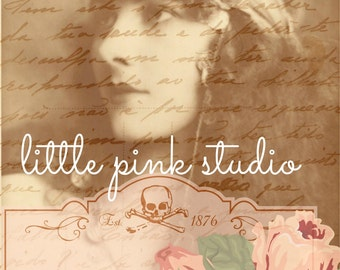 Gypsy Rose Collage, digital collage, printable, art print