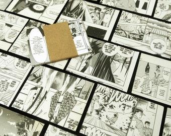 Manga Anime Ephemera, Japanese Comic Paper, Mixed Media Material, Art Craft Supplies, Scrap Paper Pack, Collage Art, Paper Embellishments