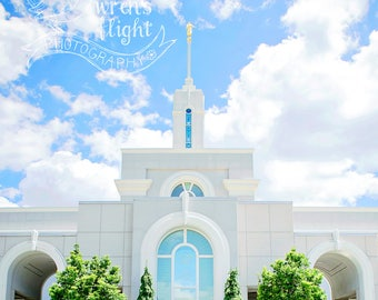 Mount Timpanogos Temple - Square Crop - Digital Download - Cheerful and Bright Fine Art Photography