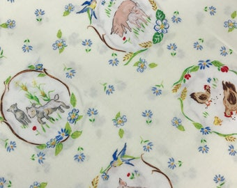 Medallions from the Country Days Collection by Heidi Boyd for Red Rooster Fabrics, Chicken Fabric, Farm Fabric