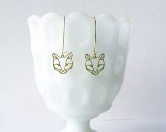 Cat Face Earrings | ATL-E-140