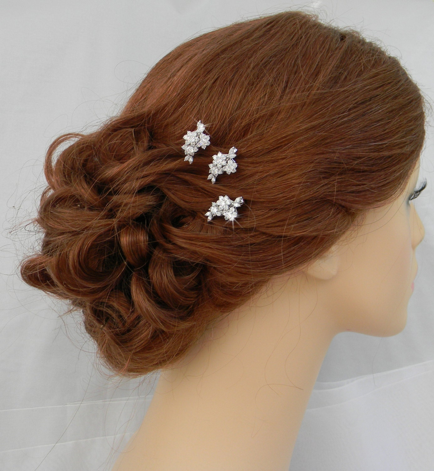bridal hair pins rose gold wedding hair clip gold vintage