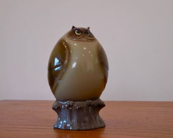 Mid Century Made in Japan Owl Sculpture