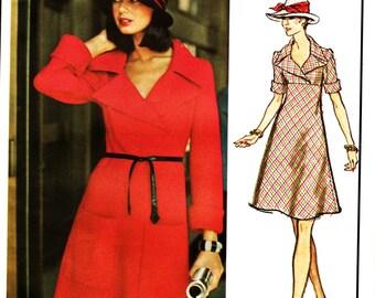 Vintage Vogue Paris Original Pierre Cardin Pattern Sassy Empire Dress Sz 8 OR Sz 12 Uncut FF Classic 60s Haute Couture Sewing Supply