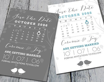 Classic Wedding Save The Dates Custom Colors (Digital)