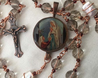 Rosary Catholic Lourdes Free Shipping Our Lady of Lourdes