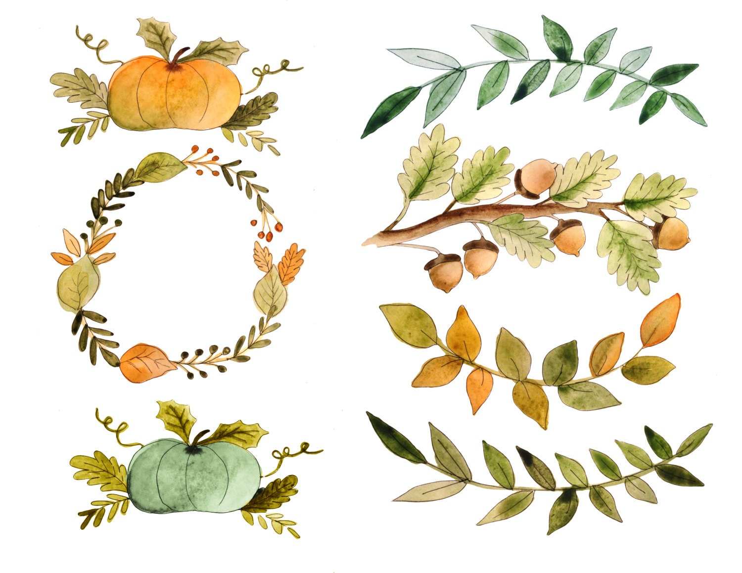 fall clipart watercolor fall clipart fall quotes thanksgiving rh etsystudio com fall clipart background fall clipart free