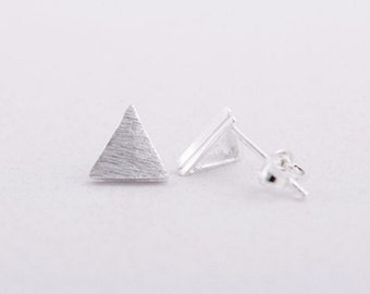 Triangle / Geometric / Studs / Earrings / Silver / Hipster / Trendy / Everyday / Simple / Dainty / Minimalist / Petite