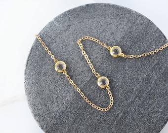 Choker necklace, Gold Choker, Crystal Choker, Gold Necklace, Solitaire necklace, Tiny necklace, Dainty gold necklace, Dainty necklace Gold