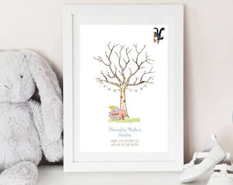 Dumbo Fingerprint Keepsake - BABY SHOWER - Christening - BIRTHDAY - Fingerprint tree