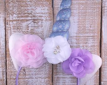 Unicorn Headband, Unicorn Floral Crown, Unicorn Birthday, Girls  Birthday, Unicorn Party