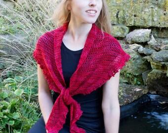 Berry Tart Shawlette Crochet Pattern - PDF