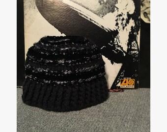 Handmade crochet messy bun hat