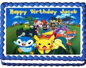 POKEMON image Edible cake topper party decoration