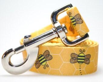 """Bees 1"""" Width  Leash"""