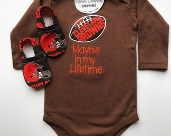 Cleveland Browns Shirt and Matching Booties