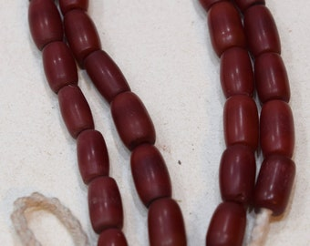 Beads India Buri Nut Red Oval Vintage Beads 12mm