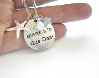 Starfish Necklace It Matters to this One Silver Starfish Charm Necklace Beach Wedding