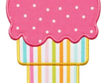 784 Ice Cream Cone 3 Machine Embroidery Applique Design